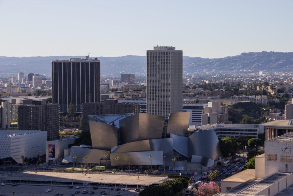 3 Tage Los Angeles: Ausblick von der City Hall auf die Walt Disney Concert Hall