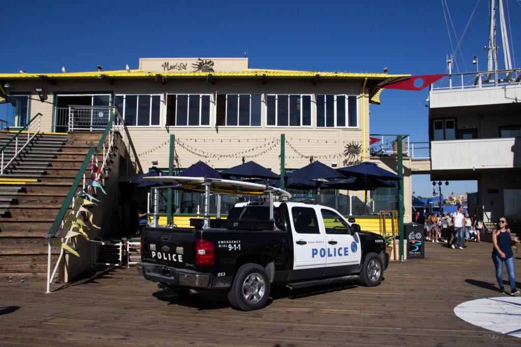 3 Tage Los Angeles: Polizeiauto auf dem Santa Monica Pier
