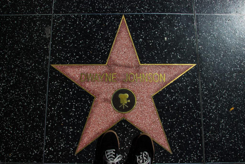 3 Tage Los Angeles: Walk of Fame - Dwayne Johnson